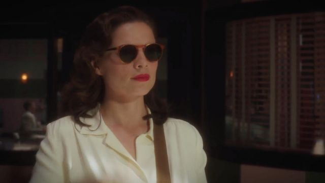 Sunglasses outfit worn by Peggy Carter (Hayley Atwell) in Marvel's Agent Carter (S01E01) - TV Show Outfits and Products
