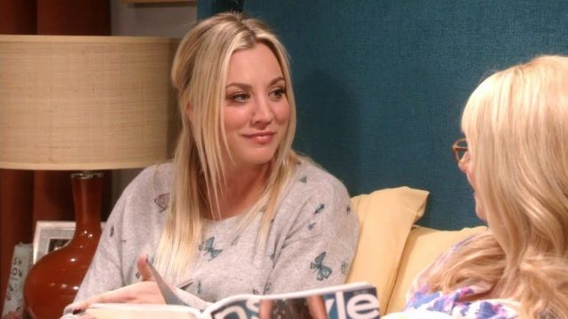 Fashion Trends 2021: Sweat patterned butterflies of Penny (Kaley Cuoco) seen in The Big Bang Theory S11E15