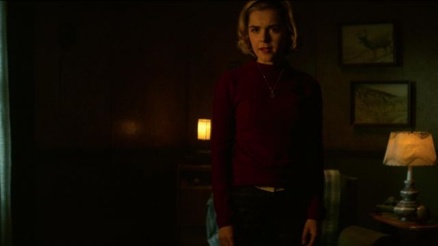 Sweater cherry Sabrina Spellman (Kiernan Shipka) seen in The New Adventures of Sabrina Season 1 Episode 6 - TV Show Outfits and Products