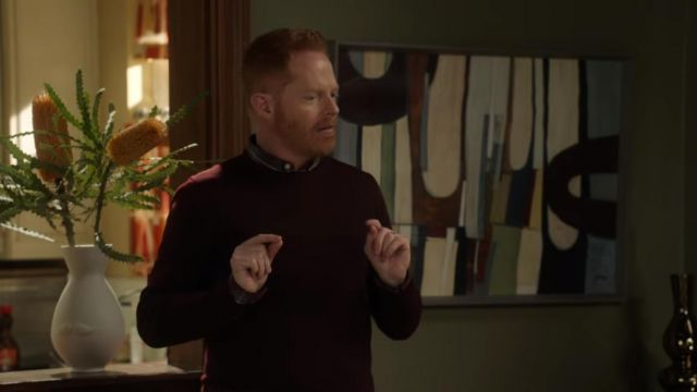 Sweater claret of Mitchell Pritchett (Jesse Tyler Ferguson) Modern Family (Season 8E15) - TV Show Outfits and Products