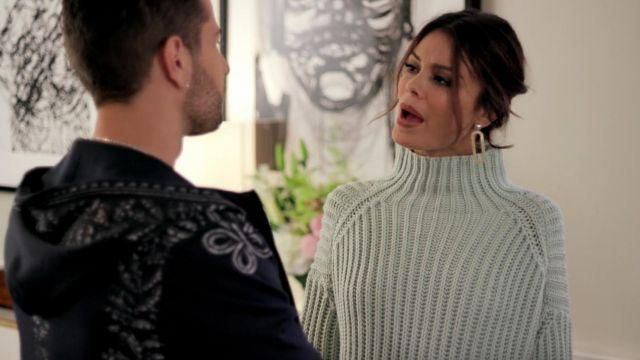 Fashion Trends 2021: Sweater outfit worn by Crystal Flores Carrington (Nathalie Kelley) seen in Dynasty Season 1 Episode 4