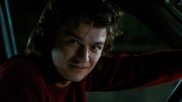 Sweater outfit worn by Steve Harrington (Joe Keery) seen in Stranger Things Season 2 Episode 9 - TV Show Outfits and Products