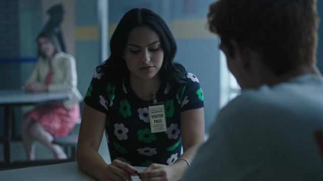 Sweater printed ModCloth outfit worn by Veronica Lodge (Camila Mendes) seen in Riverdale Season 3 Episode 2 - TV Show Outfits and Products