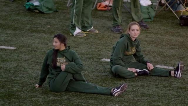Sweatshirt hoody green OWLS Track & Field outfit worn by Casey Gardner (Brigette Lundy-Paine) seen in Atypical Season 1 Episode 4 - TV Show Outfits and Products