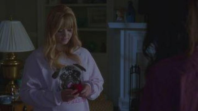 Sweatshirt pink Woof Weekend Pug by Women outfit worn by Alison DiLaurentis (Sasha Pieterse) year-old Pretty Little Liars Season 7E20 - TV Show Outfits and Products