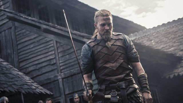 Sword in the viking Ragnar the Young (Tobias Santelmann) seen in The Last Kingdom Season 2 Episode 4 - TV Show Outfits and Products