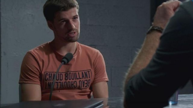 """T-shirt """"Hot boiling"""" of Caesar (Grant Lawrens) seen in a More beautiful life S10E3625 - TV Show Outfits and Products"""