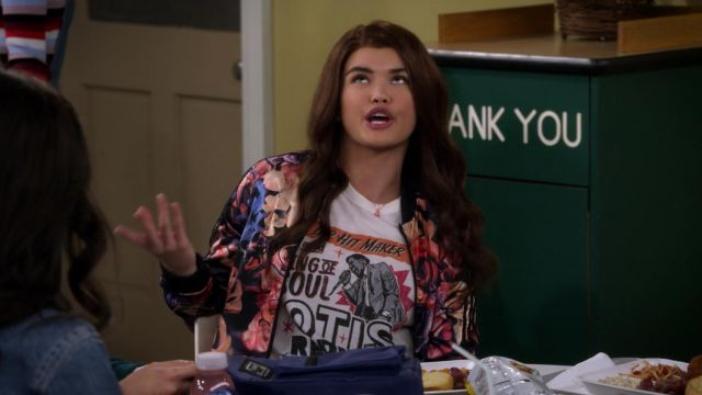 T-shirt Otis Redding outfit worn by Alexa Mendoza (Paris Berelc) seen in Alexa & Katie Season 1E13 - TV Show Outfits and Products
