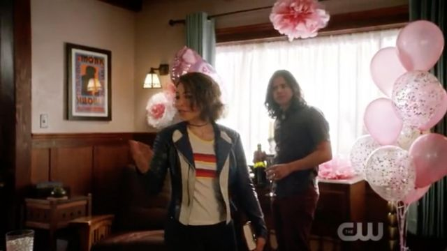 T-shirt Tennis Urban Outfitters outfit worn by Nora West-Allen (Jessica Parker Kennedy) seen in Flash Season 5 Episode 1 - TV Show Outfits and Products