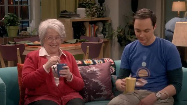 T-shirt blue solar system for Design By Humans of Sheldon Cooper (Jim Parsons) seen in The Big Bang Theory S12 Episode 7 - TV Show Outfits and Products