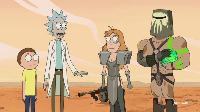 Fashion Trends 2021: T-shirt in turquoise Rick's grand-father in Rick and Morty