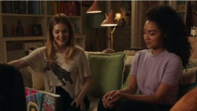 T-shirt sweater purple outfit worn by Kat Edison (Aisha Dee) seen in The Bold Type Season 2 Episode 7 - TV Show Outfits and Products