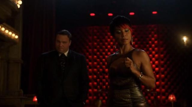 Tawapa Silver Plated Diamond Cube outfit worn by Fish Mooney (Jada Pinkett Smith) in Gotham (S01E11) - TV Show Outfits and Products