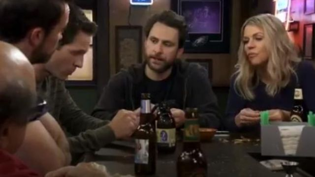 Taylormade black t shirt outfit worn by Charlie Kelly (Charlie Day) in It's Always Sunny in Philadelphia Season 4 Episode 2 - TV Show Outfits and Products