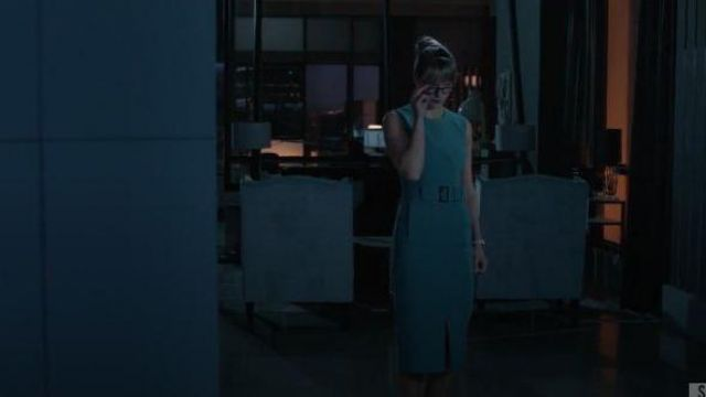 Teal Belted Midi Dress outfit worn by Kara Danvers (Melissa Benoist) in Supergirl Season 05 Episode 05 - TV Show Outfits and Products
