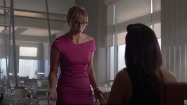Ted Baker Aspyn Asymmetric Sheath Dress outfit worn by Kara Danvers (Melissa Benoist) in Supergirl Season 5 Episode 1 - TV Show Outfits and Products