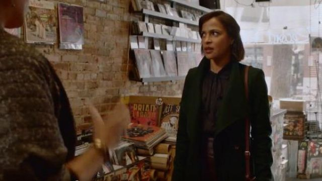 Ted Baker Green Coat outfit worn by Edie Palmer (Megalyn Echikunwoke) in Almost Family Season 01 Episode 01 - TV Show Outfits and Products