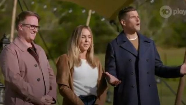 Ted Baker Navy Double Breasted Peacoat outfit worn by Osher Gunsberg in The Bachelorette Season 5 Episode 2 - TV Show Outfits and Products