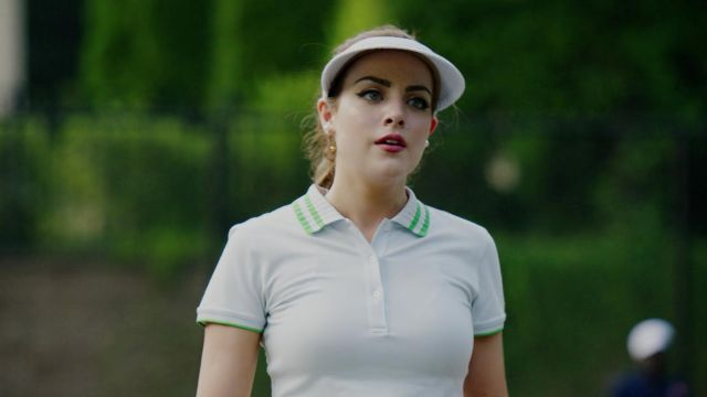 Tennis polo white Tory Sport outfit worn by Fallon Carrington (Elizabeth Gillies) seen in Dynasty Season 2 Episode 3 - TV Show Outfits and Products