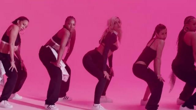 The Adidas shoes Superstar in the clip, No Broken Heats Bebe Rexha ft. Nicki Minaj - Youtube Outfits and Products