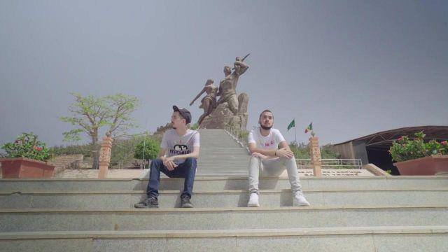 The African Renaissance Monument in Dakar, Senegal, in the clip Then of Bigflo & Oli - Youtube Outfits and Products