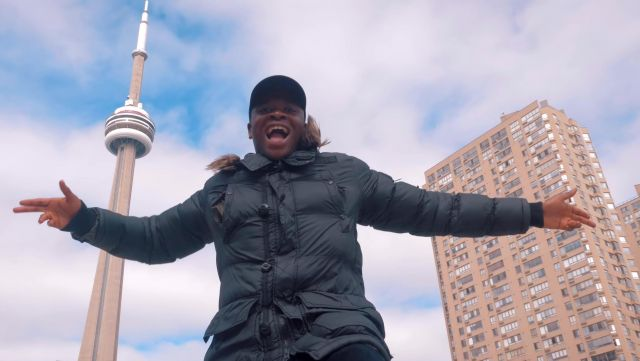 The CN Tower in Toronto, Canada, in the clip Mans not hot Big Shaq - Youtube Outfits and Products