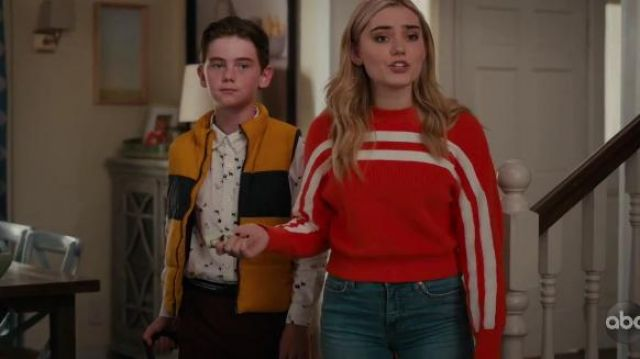 The Fifth Label Spur Knit Sweater outfit worn by Taylor Otto (Meg Donnelly) in American Housewife Season 4 Episode 7 - TV Show Outfits and Products