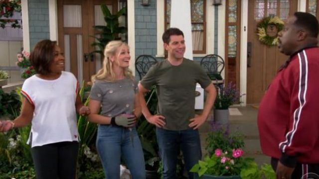 The Great Grey Daidy Tee outfit worn by Gemma (Beth Behrs) in The Neighborhood Season 02 Episode 03 - TV Show Outfits and Products