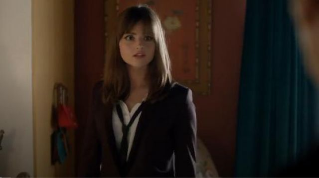 The Kooples Blazer with Velvet Lapel outfit seen on Clara (Jenna Coleman) in Doctor Who (S08E05) - TV Show Outfits and Products