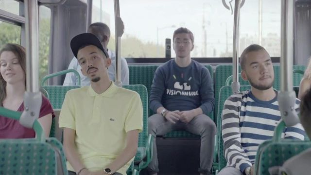 The Lacoste polo yellow Bigflo in the clip Damage of Bigflo & Oli - Youtube Outfits and Products