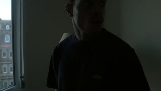 The Lacoste t-shirt navy blue Ash Kidd in the clip Nostalgia - Youtube Outfits and Products