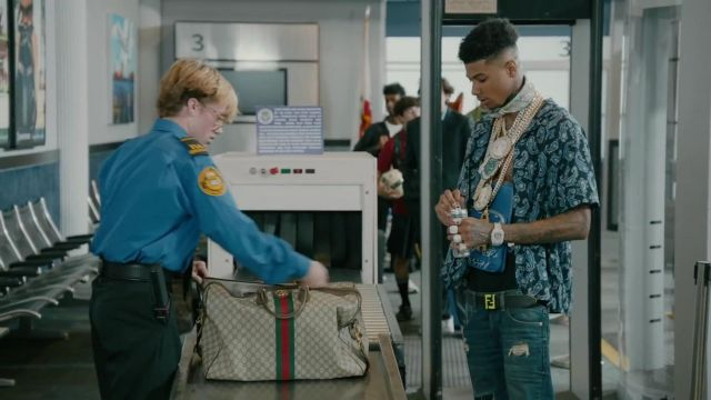 The Loop Belt Logo Fendi of Blueface in Blueface - First Class ft. Gunna - Youtube Outfits and Products