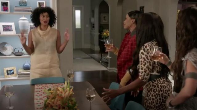 The Row Mora Silk Organza Cowlneck Top outfit worn by Rainbow Johnson (Tracee Ellis Ross) in black-ish Season 6 Episode 3 - TV Show Outfits and Products