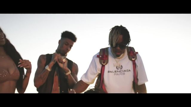 The T-Shirt Logo Balenciaga seen in Blueface - Close Up ft. Jeremih - Youtube Outfits and Products