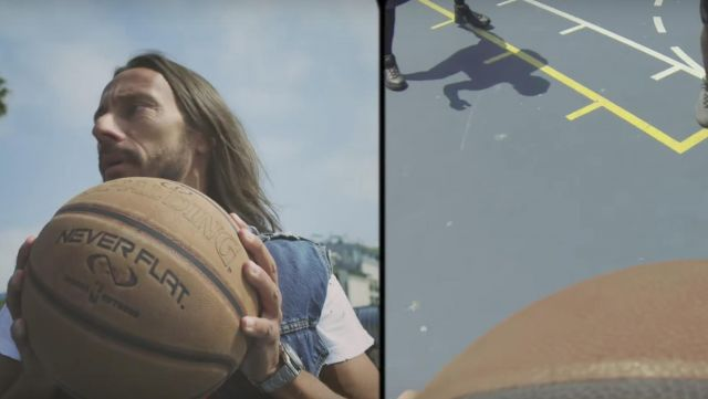 The ball basketball Spalding Never Flat in the clip Summer Moonlight Bob Sinclar - Youtube Outfits and Products