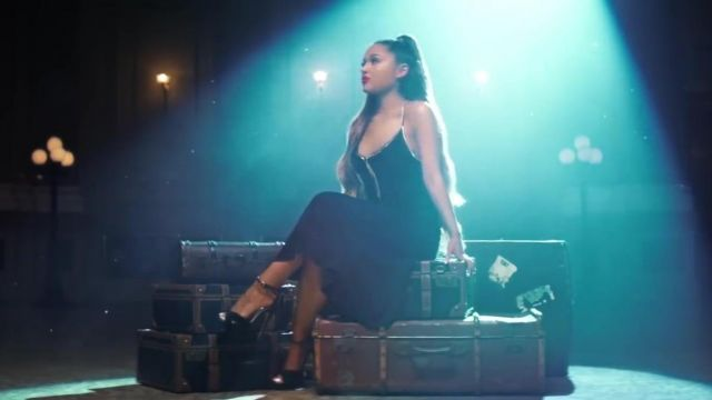 The black dress rhinestone Ariana Grande in the clip breathin - Youtube Outfits and Products