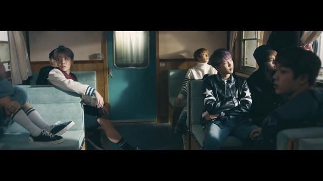 The black jacket Givenchy in the clip Spring Day BTS - Youtube Outfits and Products