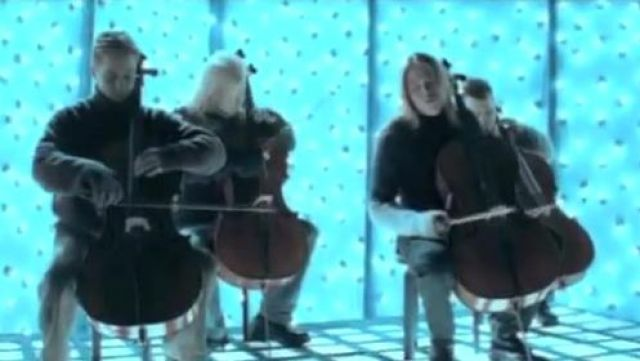 The cellos in the clip Nothing else matters from Apocalyptica - Youtube Outfits and Products