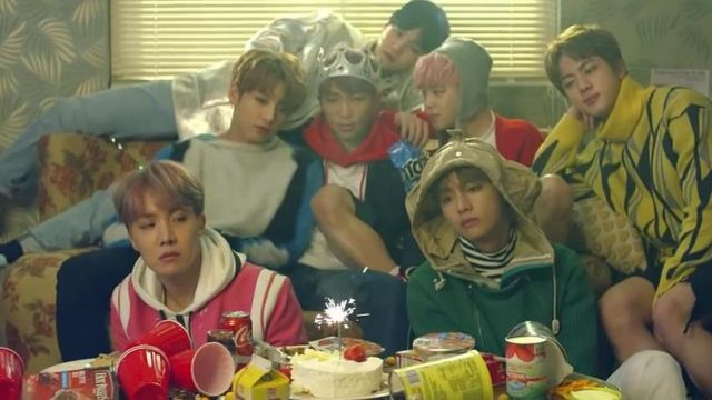 The cups are red in the clip Spring Day BTS - Youtube Outfits and Products