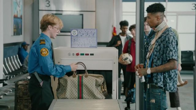 The handbag Monogrammed Gucci Blueface in Blueface - First Class ft. Gunna - Youtube Outfits and Products