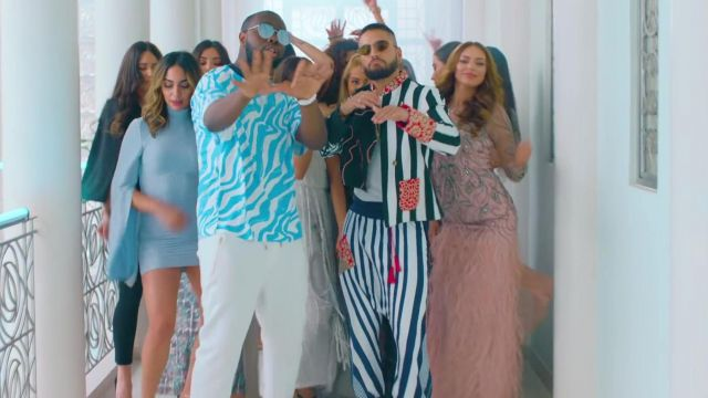 The jacket and the pants outfit worn by Maluma in her video clip Hola Señorita (Maria)with Gims - Youtube Outfits and Products