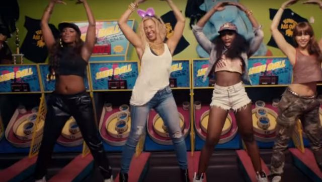 The jean outfit worn by Beyonce in the video XO - Youtube Outfits and Products