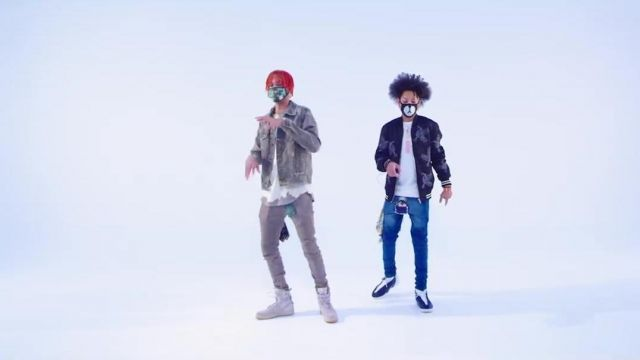 The mask Bigood in the clip, the Rolex Ayo and Teo - Youtube Outfits and Products