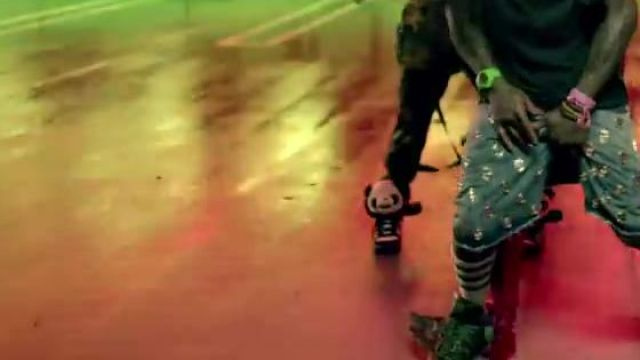 The pair of Jeremy Scott Panda Bear in the clip Y. U. MAD Birdman - Youtube Outfits and Products