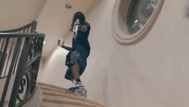 The pair of Nike Air Jordan 4 Motorsport in the clip Mailbox Chief Keef - Youtube Outfits and Products