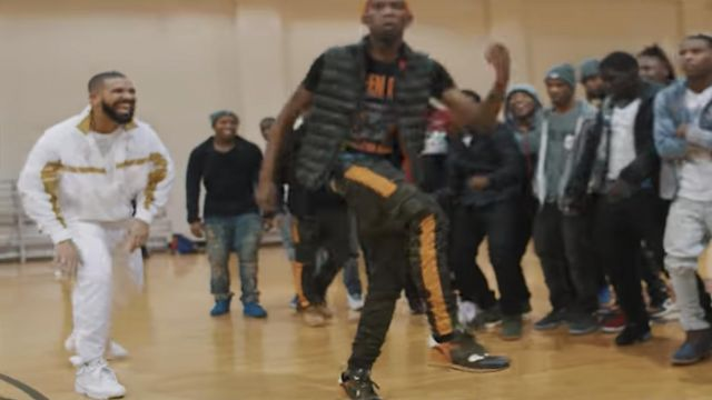 The pair of Nike Air Jordan 8 outfit worn by Drake in the clip Look Alive Blocboy JB - Youtube Outfits and Products