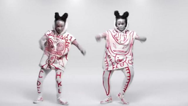 Fashion Trends 2021: The red coats and white of the dancers in the clip, Ugly Boy Die Antwoord