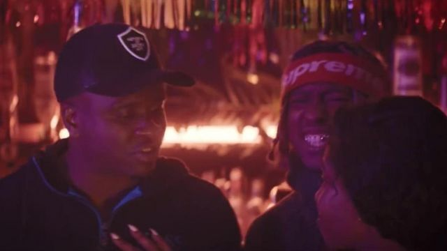 The red stripe Supreme in the clip the Man don t dance Big Shaq - Youtube Outfits and Products