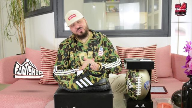 """The shirt BAPE x Adidas Tonton Gibs in BAPE X ADIDAS ULTRABOOST """"SUPER BOWL"""" - Youtube Outfits and Products"""