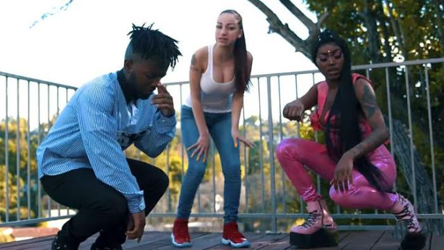 The shirt Prada of MadeinTyo in the clip Hi Bich Remix Bhad Bhabie - Youtube Outfits and Products